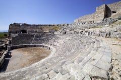 Den gamla teatern i Milet, Turkay Royaltyfria Bilder