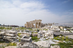Den gamla templet av Athena i Aten Royaltyfri Bild