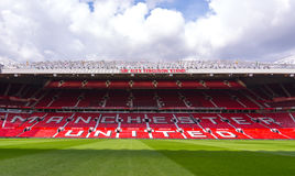 Den gamla Trafford stadion Royaltyfri Fotografi