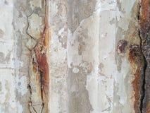 Den gamla väggbakgrunden har rost arkivfoto