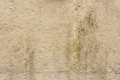 Den gamla väggen, grunge, material, åldrades, rost eller konstruktion Grungy beige bakgrund Fotografering för Bildbyråer