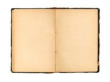 den gammala boken öppnar Arkivfoto
