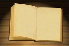 den gammala boken öppnar Arkivbilder