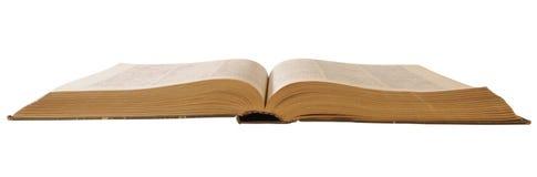 den gammala boken öppnar Arkivbild
