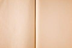 den gammala boken öppnar paper textur Arkivfoto