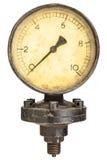 Den gammala branschskärmmanoen mäter Fotografering för Bildbyråer