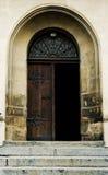 den gammala dörren öppnar Royaltyfria Bilder