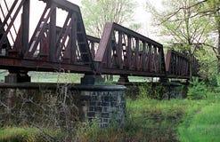 Den gammala järnvägen överbryggar Royaltyfri Foto