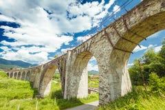 Den gammala järnvägen överbryggar Fotografering för Bildbyråer