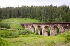 Den gammala järnvägen överbryggar Royaltyfri Bild