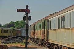 Den gammala järnvägen posterar Royaltyfria Foton