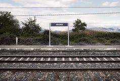Den gammala järnvägen posterar Royaltyfria Bilder