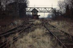 Den gammala järnvägen posterar Royaltyfri Bild