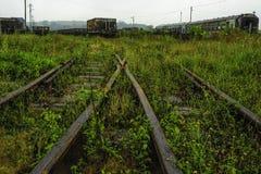 Den gammala järnvägen posterar Royaltyfri Fotografi