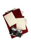 Gammal album och kamera Royaltyfria Bilder