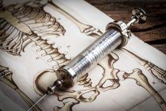 Den gammala läkarundersökningen instrumenterar Royaltyfri Bild