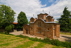 Kyrkan i Nerezi i Skopie, Makedonien Arkivfoton