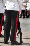 den gammala militära marinen ståtar den högväxt shipen Fotografering för Bildbyråer