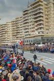den gammala militära marinen ståtar den högväxt shipen Royaltyfri Bild