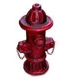 Den gammala röda hydranten Arkivbild