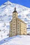 Den gammala Simplon klosterhärbärgen, Simplon passerar Royaltyfria Foton