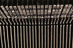 Den gammala skrivmaskinen märker Royaltyfria Bilder