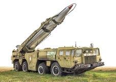 Den gammala sovjetiska raketlauncheren Royaltyfri Bild