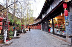 Gammal Town av Lijiang Arkivfoton