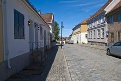 Den gammala townen i fredrikstad (en gata) Fotografering för Bildbyråer