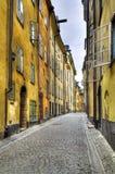 Den gammala townen Stockholm, HDR avbildar. Arkivbild