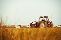 Gammal traktor Arkivbilder