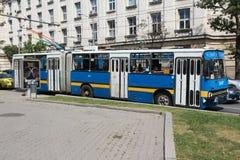 Den gammala trolleyen bussar Royaltyfria Foton