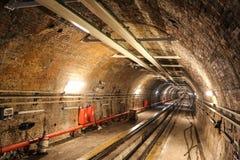 Den gammala tunnelen fodrar Royaltyfria Bilder