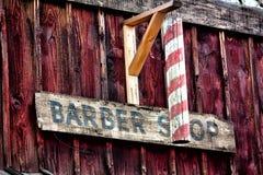 Den gammala västra barberaren shoppar Royaltyfri Foto