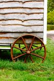 Den gammala vagnen rullar Arkivfoton