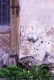 Den gammala wood dörren Arkivbilder