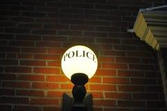 Den gammalmodiga runda polisen tänder i Portland arkivbild