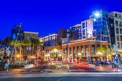Den Gaslamp fjärdedelen i San Diego, Kalifornien, Royaltyfria Foton