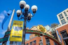 Den Gaslamp fjärdedelen i San Diego, Kalifornien Royaltyfri Fotografi