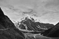 Den Gawalong glaciären Fotografering för Bildbyråer