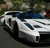 Den Gemballa MIG-U1 påskyndar beställnings- Ferrari Enzo baksida och baksidan Royaltyfri Bild