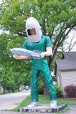 Den Gemini Giant skulpturen på restaurangen för lanseringsblock Royaltyfri Fotografi
