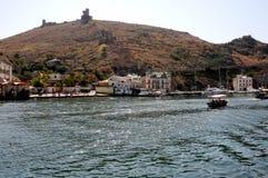 Den Genoa fästningen i Balaklave Arkivfoto