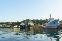 Den genomsnittliga havstankfartyget Royaltyfri Fotografi