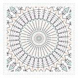 Den geometriska prydnaden, planlägger det moderna kortet Arkivfoton
