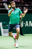Den Gilles Simon ATP-världen turnerar inomhus tennis Arkivbilder