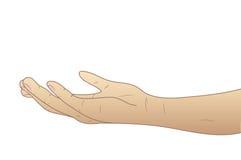 Den givna handen gömma i handflatan upp Royaltyfri Foto