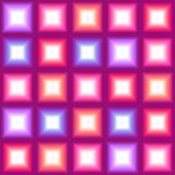 Den glänsande flerfärgade fyrkanten tänder sömlös bakgrund Arkivbild
