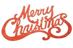 Den glada julen undertecknar Royaltyfri Fotografi