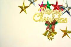 Den glada julen undertecknar Royaltyfria Bilder